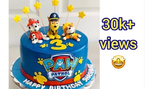 How to make paw patrol cake Detailed video