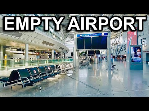 DUS Dusseldorf Airport Walking Tour May 2020 - Nobody at the Airport