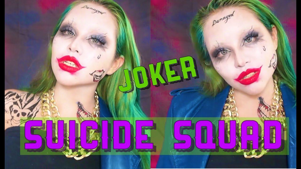 スーサイドスクワッド.ジョーカーメイク|SUICIDE SQUAD joker makeup