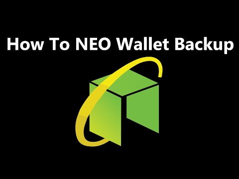 NEO Cryptocurrency Wallet | How To NEO Wallet Backup | Neo Coin Wallet Backup