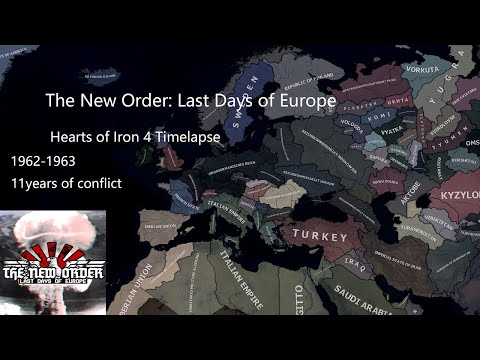 Hearts of Iron 4/ The New Order mod AI only TImelapse |