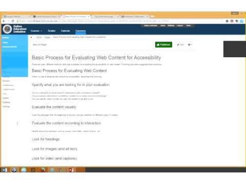 @ONE WEBINAR: EVALUATING WEB CONTENT FOR ACCESSIBILITY