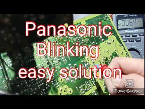 Panasonic CRT Keep On Blinking) Easy Solution