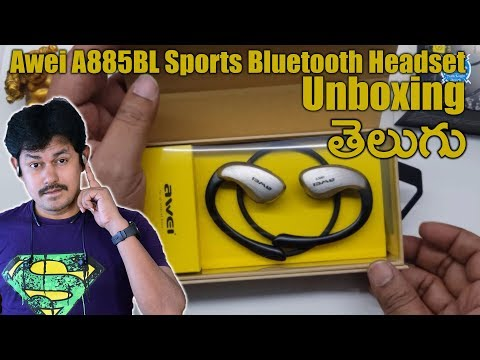 Awei A885BL Sports Bluetooth Headset Unboxing | in Telugu Tech-Logic