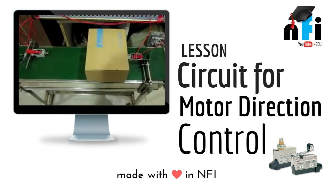on-off and direction control of 3 phase motor using limit switches