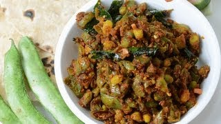 Green Beans With Sesame Seed Masala  - By Vahchef @ Vahrehvah.com