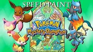 [Speed Paint] Pokemon Mystery Dungeon Tribute