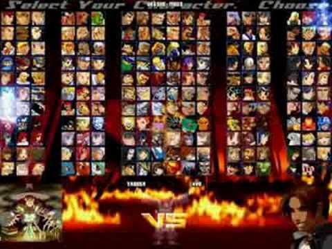 my m u g e n screenpack character roster and new lifebars youtube