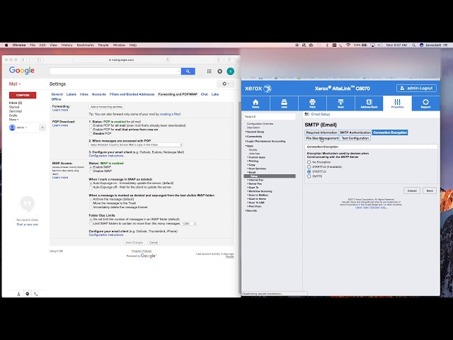How To Configuer Scan to Email SMTP on a Xerox Copier - YouTube