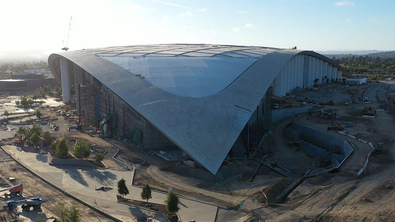 Newest SoFi Stadium Drone Construction Update June 2020