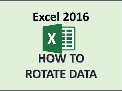 Excel 2016 - Move Data and Rotate Text