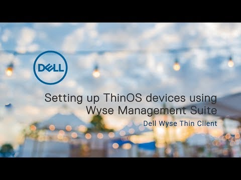 Configuring ThinOS devices using WMS - YouTube