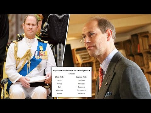 Why is Prince Edward an Earl, not a Duke?