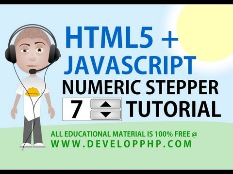 Html 5 Numeric Stepper Tutorial Form Input Interface With Javascript Processing
