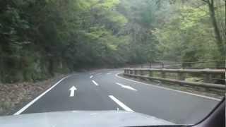 大分県耶馬溪町 ・ 県道28号 「森耶馬渓線」を走る