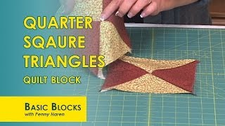 Perfect Quarter Square Triangles from Half Square Triangles