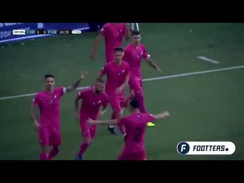 Gol de Ríos Reina. Playoff de ascenso a Segunda 2019. Cartagena-Ponferradina