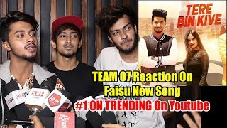 Team 07 Adnaan And Friends Reaction On Jannat Zubair & Mr. Faisu New Song | Tere Bin Kive