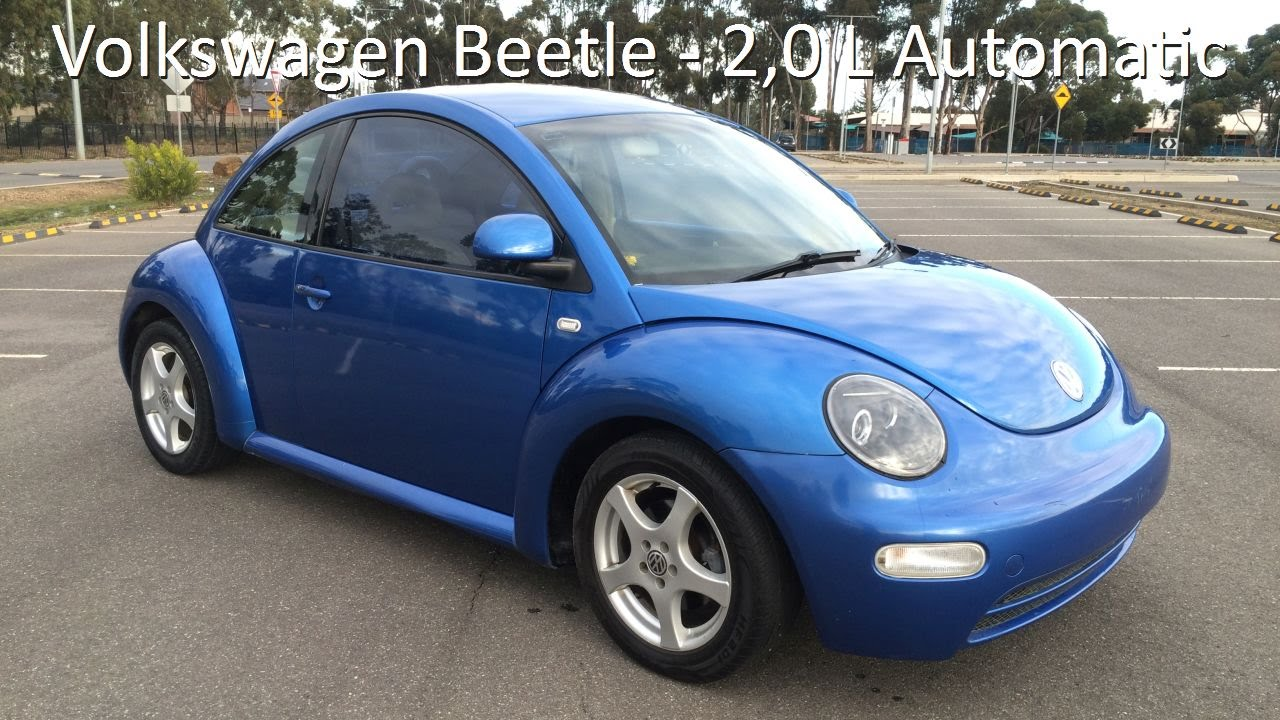 volkswagen beetle  litre automatic techno blue youtube
