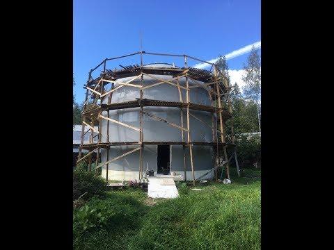 Купольный дом, покрытый мастикой Гипердесмо  Жидкая резина