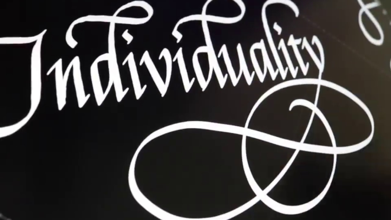 Individuality Seb Lester Calligraphy Youtube