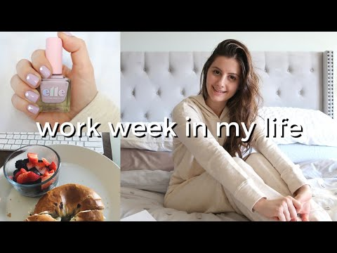 WORK WEEK IN MY LIFE | what it's really like working from home, valentine's day nail art + haul