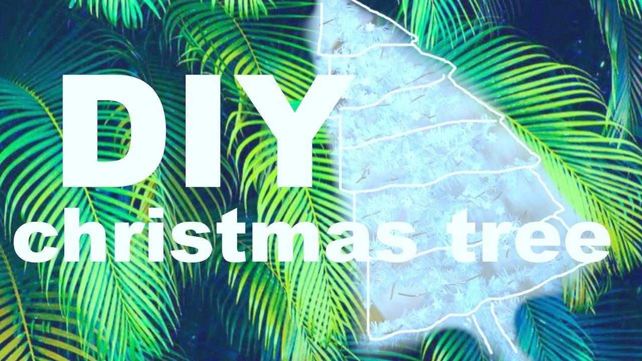 diy christmas tree holographic mini tree