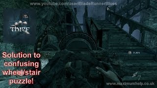 Thief Solution to annoying wheel/stairs puzzle! Search the abandoned library for the book PC 1080p