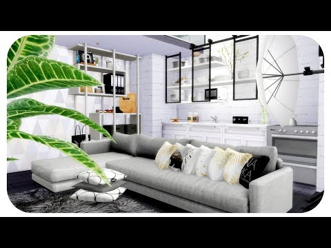 The Sims 4 | Couples Scandinavian Chic Loft Apartment | Speed Build + Download Links