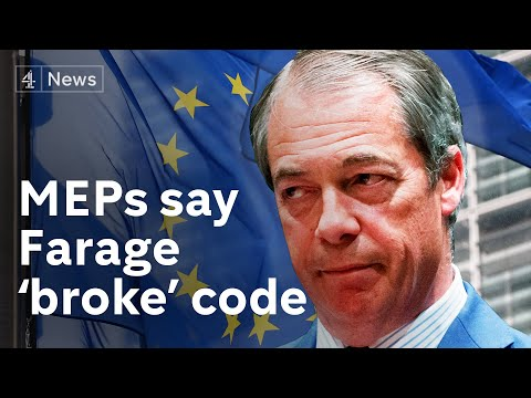 Nigel Farage accused of 'serious breach' of MEPs' code of conduct in leaked letter