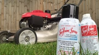 How to clean a lawn mower carburetor and intake using Sea Foam & Sea Foam Spray