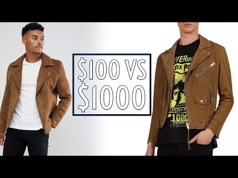 Worth It? $100 Vs $1000 Suede Moto Jackets || Cheap Vs Expensive || Men's Fashion || Gent's Lounge