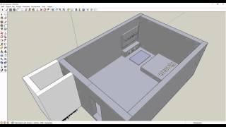 Google SketchUp 8 - Проектирование комнаты
