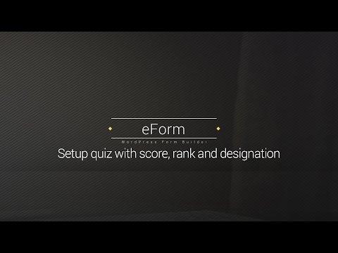 Setup Score, Quiz, Ranking and Designation in eForm