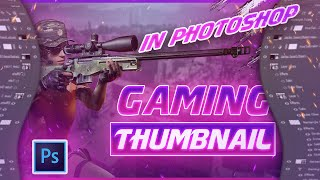 How to Create Gaming Thumbnail in Photoshop | Glow & Gradient Text | Hindi