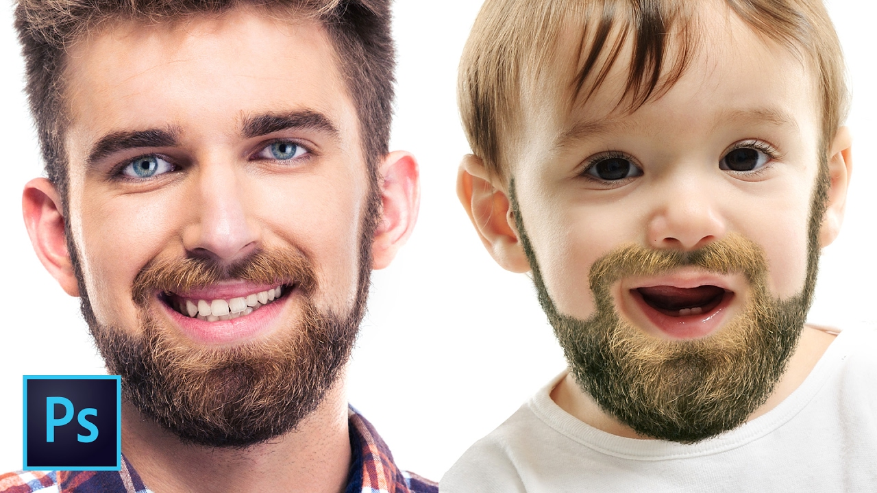How to Create & Retouch Facial Hair | Photoshop Tutorial