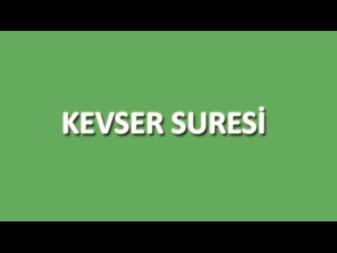 Kevser Suresi Arapça ve Türkçe Oku Dinle İzle - www.oku.gen.tr
