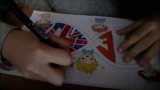 DIY One Direction cartoon collage