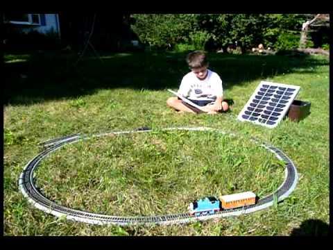 Solar Powered Model Train