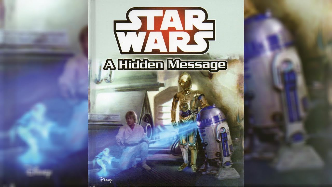 2015 Star Wars A Hidden Message Me Reader Read Along Story Book 1