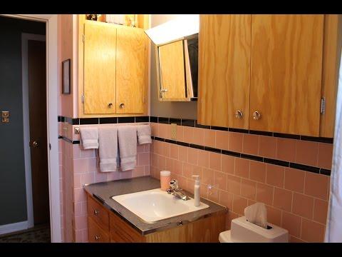 Retro Bathroom Renovation - A New Pink & Black Tiled Bathroom