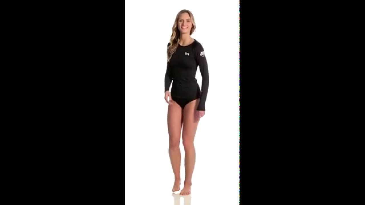 a843eebe TYR USA Swimming Women's Long Sleeve Swim Shirt | SwimOutlet.com ...