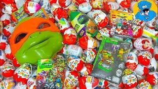 Киндер Сюрпризы,A lot of Candy and Kinder Surprise Eggs Черепашки Ниндзя TMNT,Lego Batman,Cars