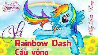 Hướng dẫn Vẽ Pony Cầu Vồng Trong Phim hoạt hình My Little Pony (Rainbow Dash Pony)