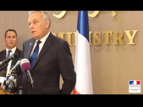 Conférence de presse du Ministre Jean-Marc Ayrault à Alger