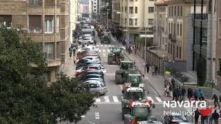 Las mejores imágenes de los tractores colapsando Pamplona