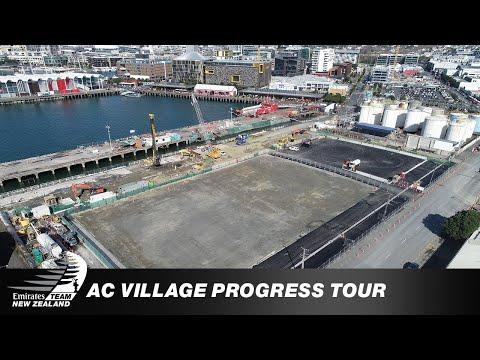 America's Cup Village Progress Tour