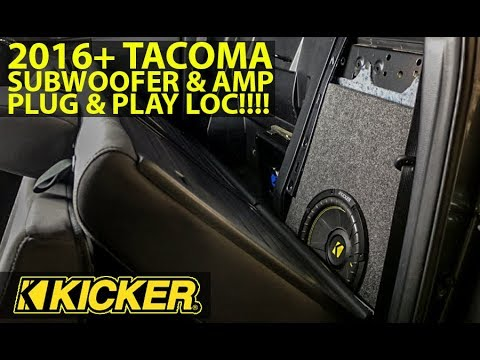 HOW TO INSTALL AMP + SUB ON A FACTORY RADIO 2016+ TACOMA plug & play well  worth it