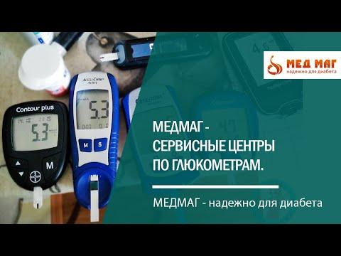 Диабет.  Сервисные центры по глюкометрам МЕДМАГ.  Выгода покупки глюкометра в МЕДМАГе!