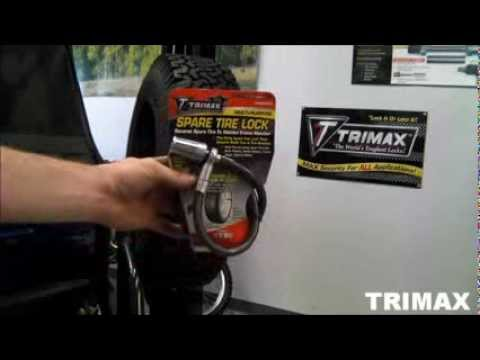 Spare Tire Lock By Trimax Youtube